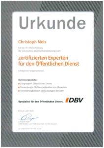 Zertifikat-Christoph-Meis-Versicherungsmakler-Beamtenanwärter